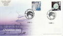 2003-12-25 Christmas Stamps London EC1 Doubled Souv (63067)