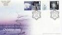 2003-11-04 Christmas Stamps + Labels Snowhill FDC (63075)