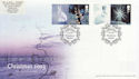2003-11-04 Christmas Stamps + Labels Winterburn FDC (63079)