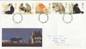 1995-01-17 Cats Stamps Nottingham FDC (63243)