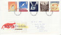 1995-05-02 Peace And Freedom Stamps Nottingham FDC (63255)