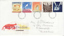 1995-05-02 Peace And Freedom Stamps Darlington FDC (63257)