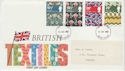 1982-07-23 British Textiles Stamps Devon FDC (63307)