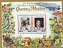 1985 Nevis Queen Mother Revalued S/S Stamps MNH (6332)
