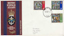 1971-10-13 Christmas Stamps Forces PO 110 cds FDC (63443)