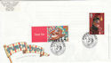 2001-09-04 Punch and Judy + LS5 Stamp Blackpool FDC (63502)