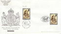 2002-04-25 Queen Mother Stamps Doubled FDC (63583)