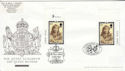 2002-04-25 Queen Mother Stamps Doubled FDC (63584)
