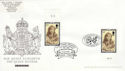2002-04-25 Queen Mother Stamps Doubled FDC (63585)