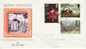 1967-07-10 British Painters Stamps Northampton FDC (63786)