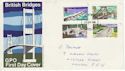 1968-04-29 British Bridges Stamps London FDC (63842)