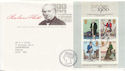 1979-10-24 Rowland Hill Stamps M/S Bureau FDC (63935)