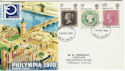 1970-09-18 Philympia Stamps Devon FDC (63955)