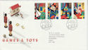 1989-05-16 Games & Toys Stamps Leeds FDC (64003)