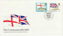 1984-04-10 Guernsey Commonwealth Flags Stamps FDC (64126)