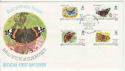 1981-02-24 Guernsey Butterflies Stamps FDC (64158)
