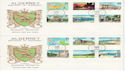 1983-06-14 Alderney Definitive Stamps x2 FDC (64244)
