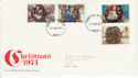 1974-11-27 Christmas Stamps Bath FDC (64518)