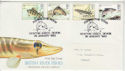 1983-01-26 British River Fish Stamps Newton Abbot FDC (64900)