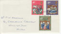 1970-11-25 Christmas Stamps London EC FDC (64995)
