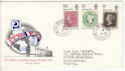 1970-09-18 Philympia Stamps Sutton Coldfield cds FDC (65007)