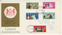 1970-04-01 Anniversaries Stamps Harrow FDC (65047)