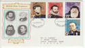 1972-02-16 Polar Explorers Stamps Devon FDC (65108)