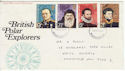 1972-02-16 Polar Explorers Stamps Newcastle FDC (65116)