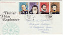 1972-02-16 Polar Explorers Stamps London cds FDC (65118)