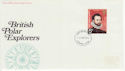 1972-02-16 Polar Explorers Stamps Plymouth FDC (65119)