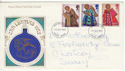 1972-10-18 Christmas Stamps Ipswich FDC (65154)