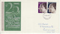 1972-11-20 Silver Wedding Stamps Colchester FDC (65165)