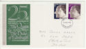 1972-11-20 Silver Wedding Stamps Exeter FDC (65166)