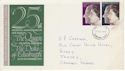 1972-11-20 Silver Wedding Stamps Eastbourne FDC (65167)