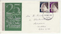 1972-11-20 Silver Wedding Stamps Rhondda FDC (65170)