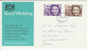 1973-11-14 Royal Wedding Stamps London FDC (65208)