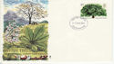 1974-02-27 British Trees Stamp Southampton FDC (65312)