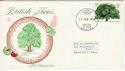1974-02-27 British Trees Stamp Newport FDC (65313)