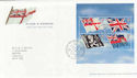 2001-10-22 Flags & Ensigns M/Sheet T/House FDC (65334)
