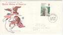 1976-06-02 American Independence Stamp Bognor FDC (65448)
