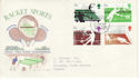 1977-01-12 Racket Sports Stamps Bognor FDC (65482)