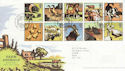 2005-01-11 Farm Animals Stamps Paddock FDC (65612)
