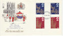 1978-05-31 Coronation Stamps Gutters part set FDC (65632)