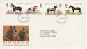 1978-07-05 Horses Stamps Ilford FDC (65654)
