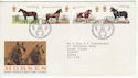 1978-07-05 Horses Stamps Peterborough FDC (65655)