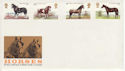 1978-07-05 Horses Stamps No Postmark FDC (65658)