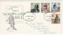 1979-08-22 Rowland Hill Stamps Llanelli on FDC (65756)