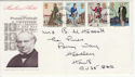 1979-08-22 Rowland Hill Stamps Aldershot on FDC (65759)