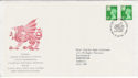 1986-01-07 Wales Definitive Stamps Cardiff FDC (66075)