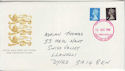 1989-08-22 Definitive Booklet Stamps Llanelli FDC (66091)